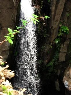 Tamanique caída agua