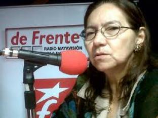 Norma Guevara no sonriendo porque hablaron del coctel de la Asamblea