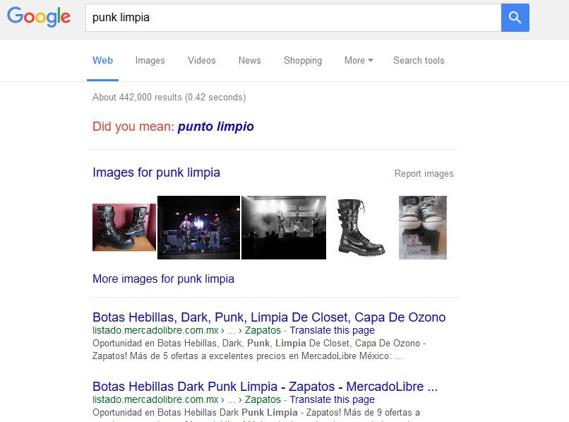 """Cuando uno googlea """"Punk limpia"""""""