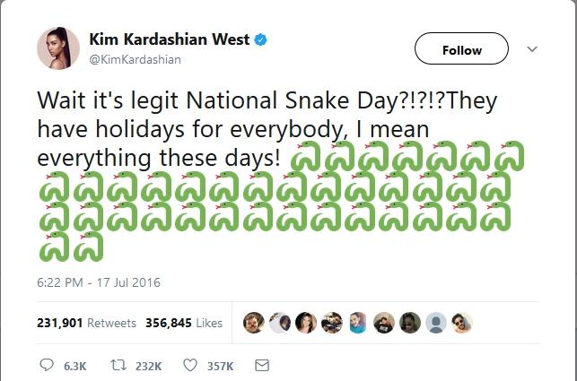 Kim Snake day